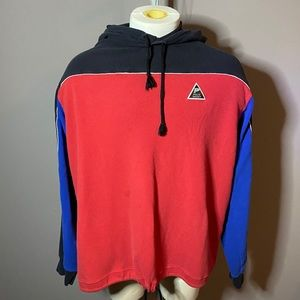 Vintage vtg polo sport hoodie black red blue XL